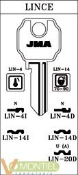 Llave acero jma lin-4d-0
