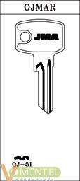 Llave acero jma oj-5i-0