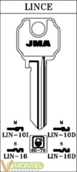 Llave acero jma lin-16-0