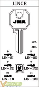Llave acero jma lin-18-0