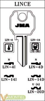 Llave acero jma lin-4i-0