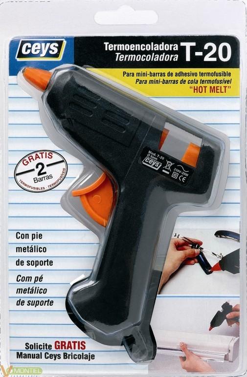 Pistola encolar termofusible 2-0