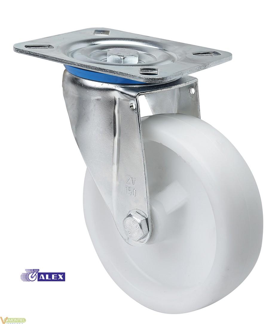Rueda pl.105x080 080mm zv ut-0