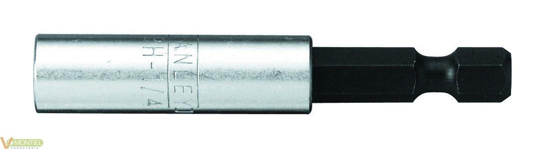 Adaptador puntas magnet. 1/4