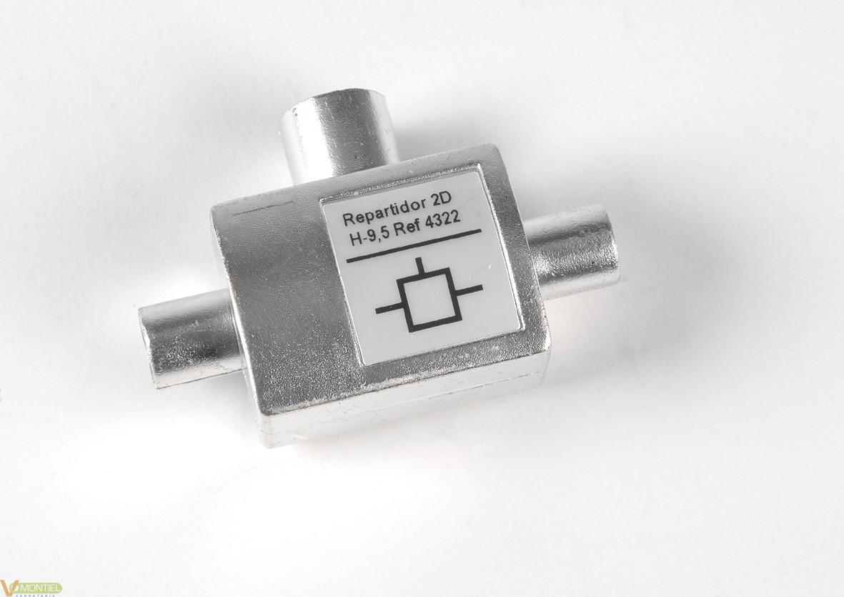 Repartidor coaxial 9,5mm 4322-0