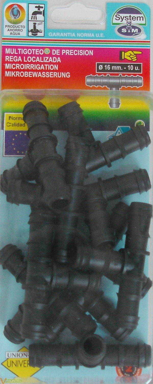 Conector goteo en t 16 mm 10 p-0
