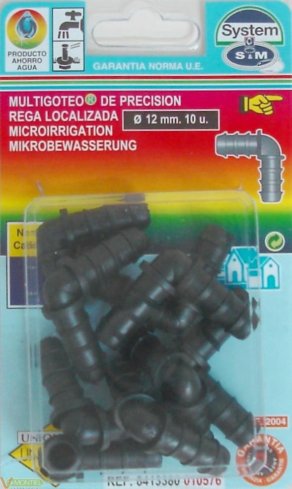 Codo goteo 12 mm 10 pz-0