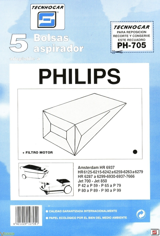 Bolsa asp philips 5 pz 910705-0