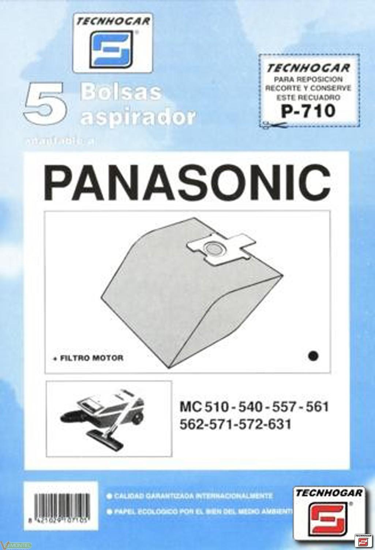 Bolsa asp panasonic mc571 5 pz-0