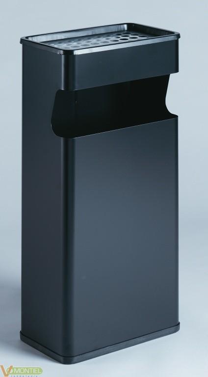 Cenicero/papelera negro acero-0