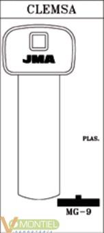 Llave plastico jma mg-9-0