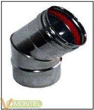 Codo t/estufa 45§ 080 cm inox-0