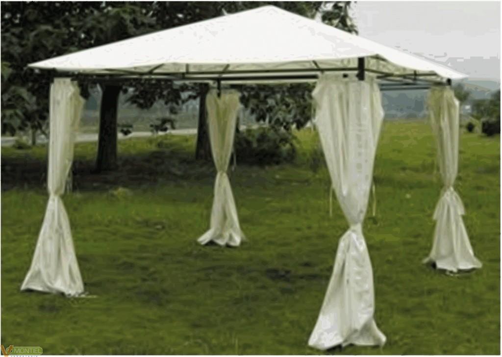Cenador c/cortina 3x3 mt natuu-0