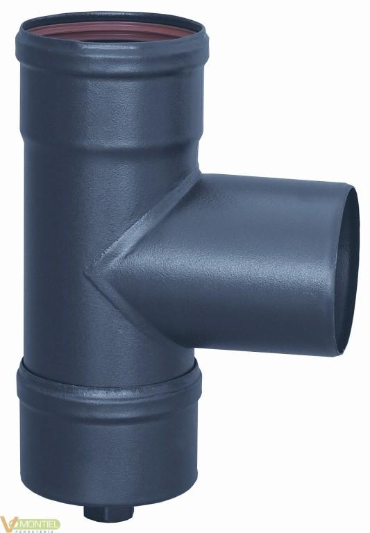 Tubo estufa en t 080 mm a/esm-0