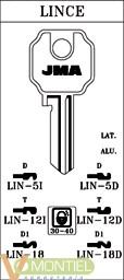 Llave acero jma lin-5d-0