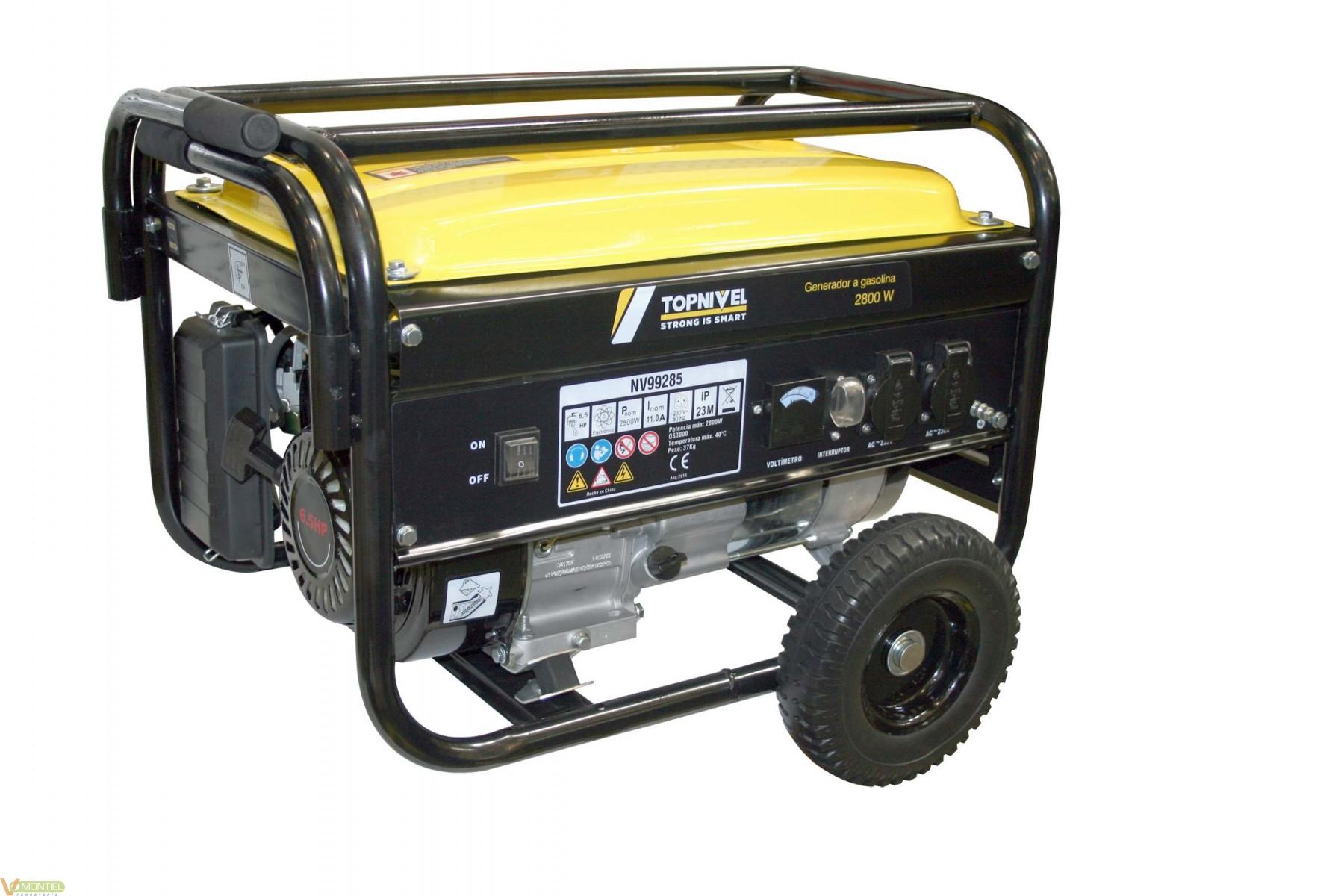 Generador gas. 2,8kva 15lt niv-0