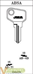 Llave acero jma ab-7i-0
