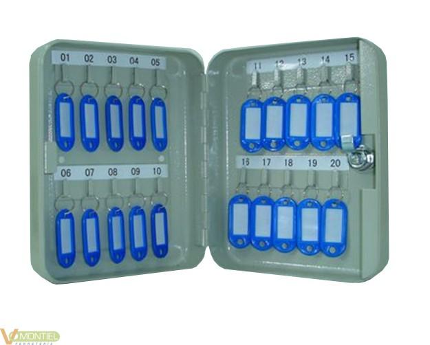 Armario 20 llaves gris metalic-0