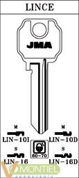 Llave acero jma lin-10d-0