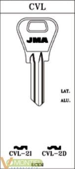 Llave acero jma cvl-2i-0