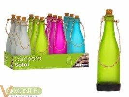 Lampara solar 25cm botella 820-0