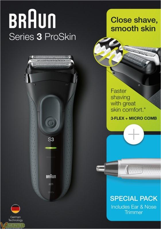 Afeitadora s/cable braun 3000-0