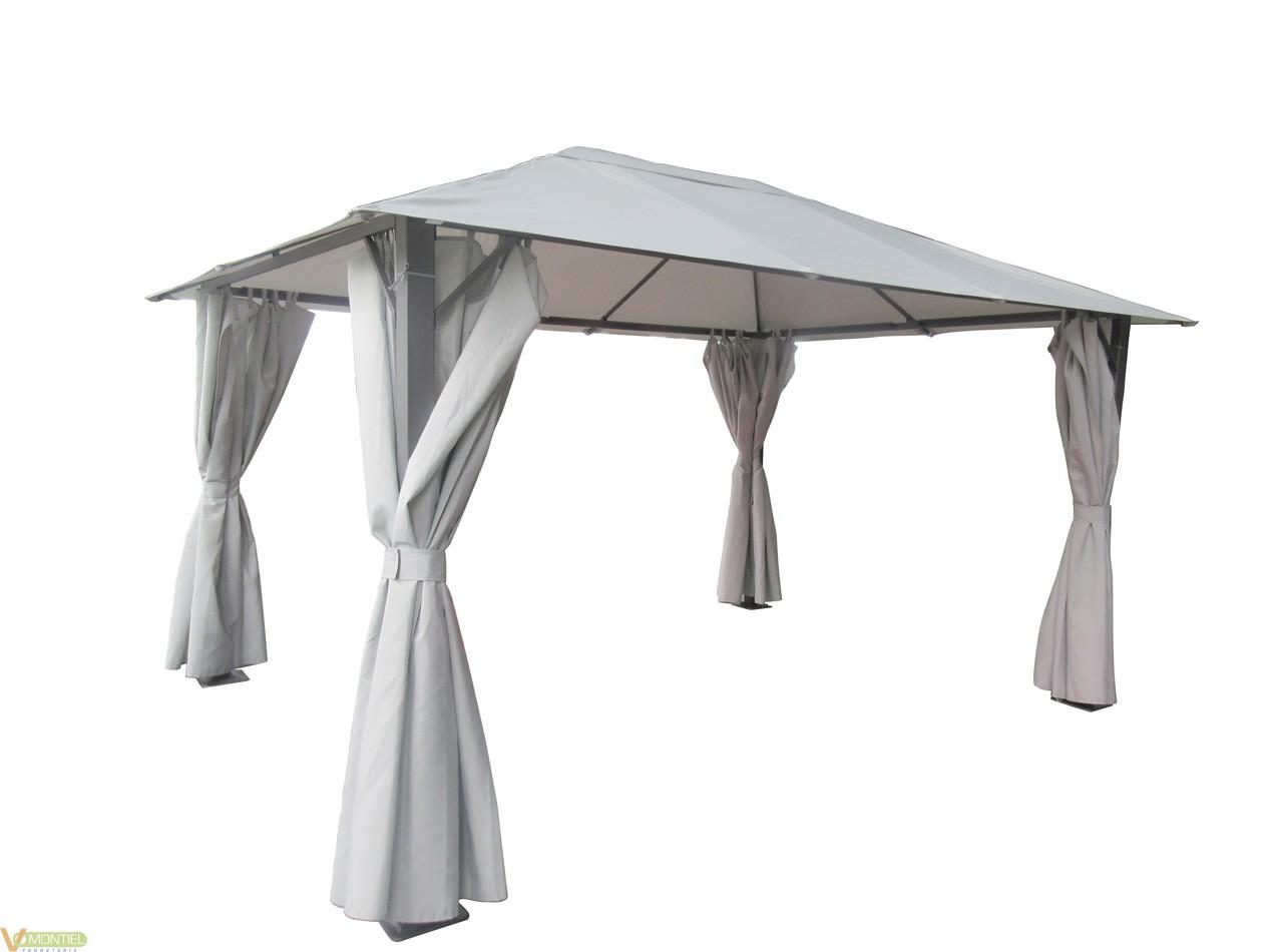 Cenador c/cortina 2,95x3,95x2,-0
