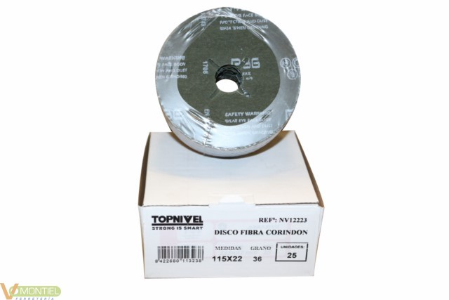 Disco lija 115x22 mm gr 36 nv1-0