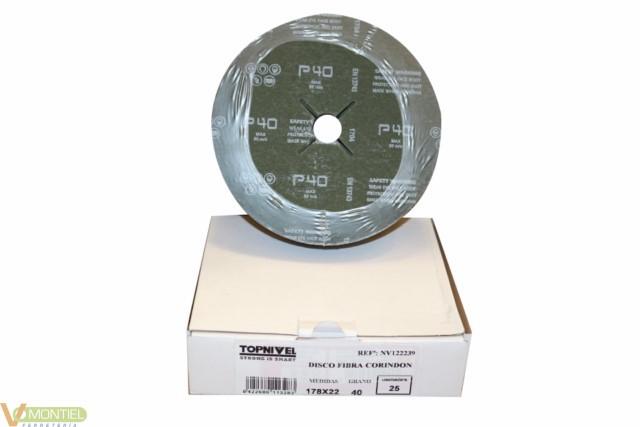 Disco lija 180x22 mm gr 40 nv1-0