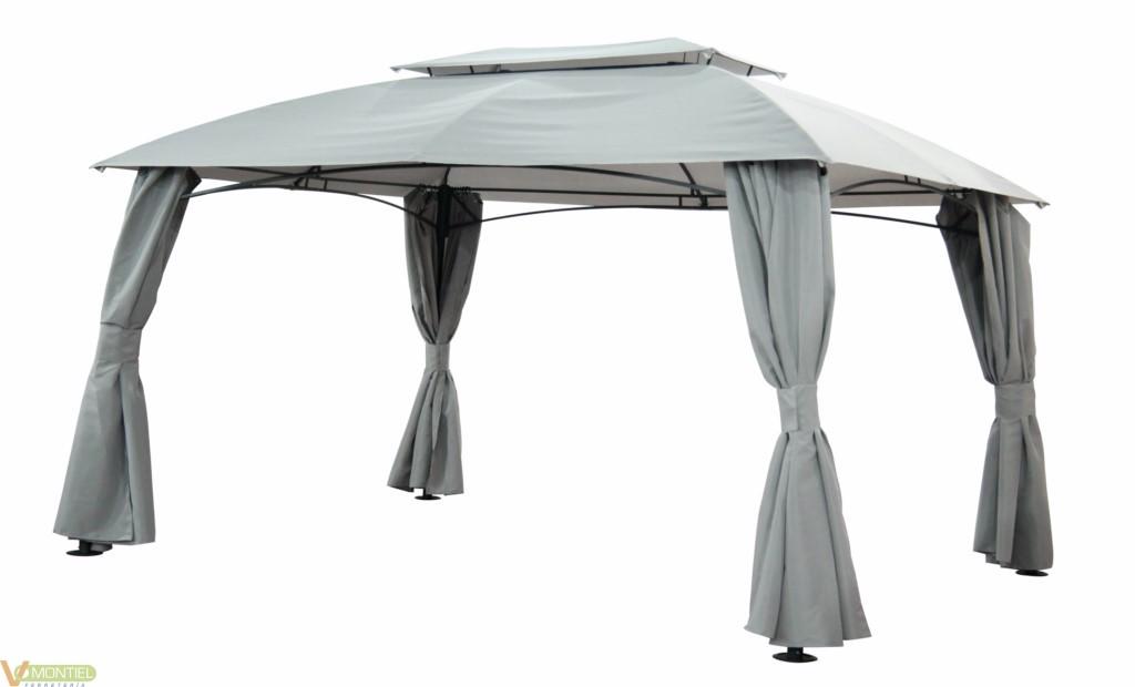 Cenador c/cortina 3x4x2,7 mt n