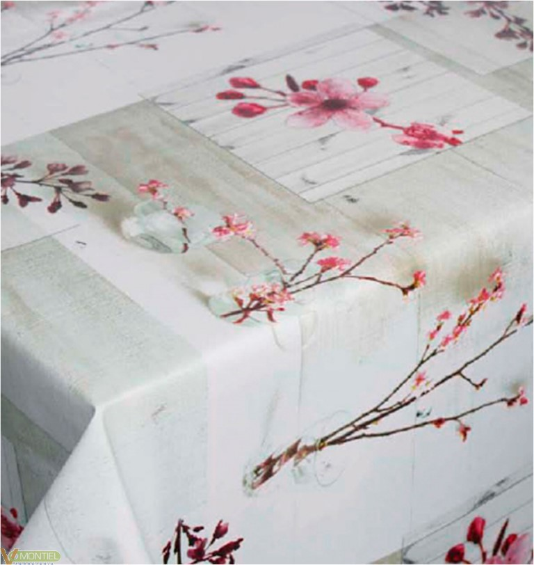 Hule 1,40x25mt flores y ramas