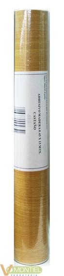 Papel adhesivo 45x20mt castaño