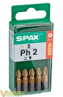 """Punta atorn ph2 1/4""""""""-25mm 500"""