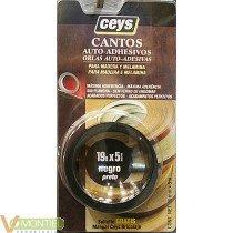 Canto p/madera 5m.negro 850102