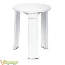 Taburete baÑo blanco 43001