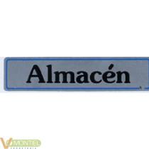 Placa 'almacen' aluminio a21