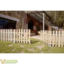 Puerta valla madera 80x100cm i