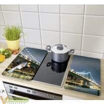 Tabla cocina vidr. 2 pz brookl