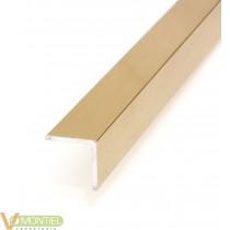 Angulo aluminio oro 20x20 3mt