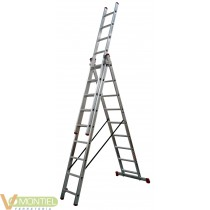 Escalera aluminio 3x9 peld. 3x
