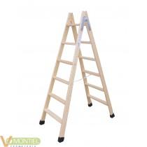 Escalera madera doble con taco