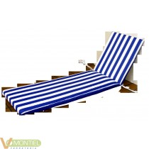 Cojin cama blanco/azul 180x50x
