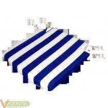 Cojin para silla blaco/azul (2
