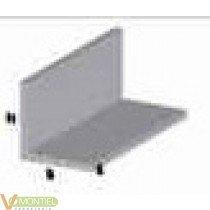 Angulo aluminio natural 15x15m