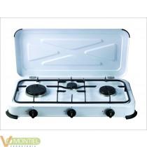 Cocina portatil de gas 3 fuego