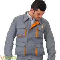Cazadora gris/naranja cargo t4