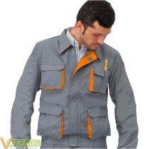 Cazadora gris/naranja cargo t5