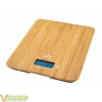 Balanza electr. 15kg bambú
