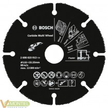 Disco corte 115x22,23mm carbur