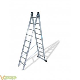 Escalera doble c/base 6x2 2.8m